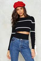 Nasty Gal nastygal On Cloud Line Cropped Sweater