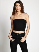 GUESS Women's Knot-Back Crop Tube Top