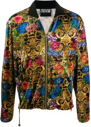 Versace Baroque-Print Track Jacket