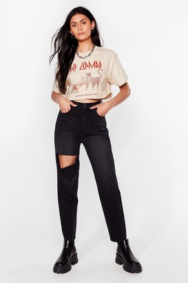 Nasty Gal Womens Get in Their Shreds Distressed Jeans - Black - 6