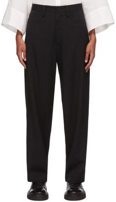 Y's Ys Black Wool Gabardine Trousers