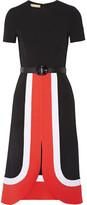 Michael Kors Color-block Wool Dress - Black