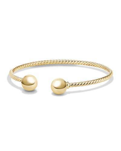 David Yurman Solari 18K Gold Bead Cuff Bracelet