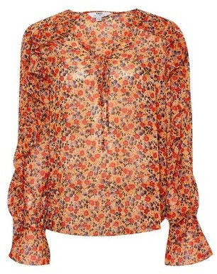Dorothy Perkins Womens Dp Tall Multi Colour Floral Print Ruffle Blouse