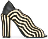 Fendi Waves pumps - women - Calf Leather/Leather/Suede - 36