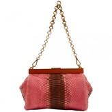 Prada Pink Python Handbags