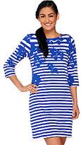 Liz Claiborne New York Petite Printed Stripe Knit Dress