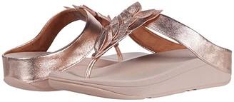 FitFlop Fino Leaf Toe-Thongs (Silver) Women's Shoes