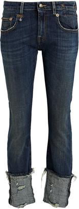 R 13 Boy Cuffed Skinny Jeans