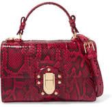 Dolce & Gabbana Lucia Python Shoulder Bag - Red