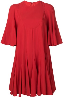 Valentino Pleated Mini Dress