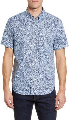 Reyn Spooner Moorea Garden Regular Fit Floral Short Sleeve Button-Down Shirt