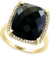 Effy Eclipse by Onyx & Diamond (1/8 ct. t.w.) Ring in 14k Gold