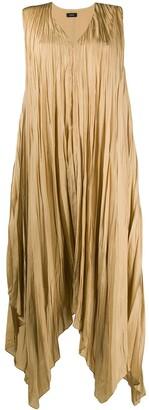 Joseph pleated handkerchief-hem dress