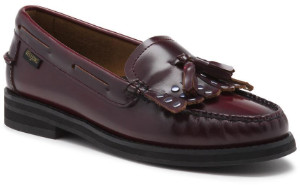 G.H. Bass G.H.Bass - Burgundy Weejuns Esther Kiltie Loafers Shoes - 36