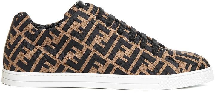 Fendi FF Motif Low-Top Sneakers