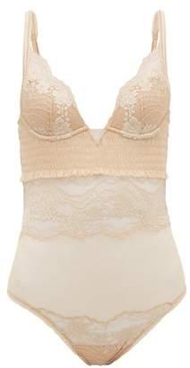 La Perla Leavers Lace Bodysuit - Womens - Nude