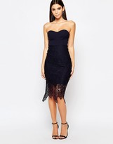 Lipsy 2 In 1 Bra Cup Dress With Scallop Lace Skirt