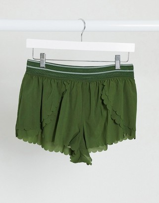 FREE PEOPLE MOVEMENT pretty lil running shorts in green