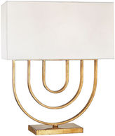One Kings Lane Munich Round Table Lamp, Gold Leaf