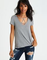 American Eagle Outfitters AE Cage Front T-Shirt