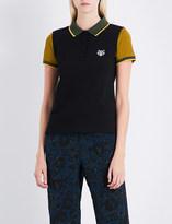 Kenzo Icon Tiger-embroidered cotton-piqué polo shirt