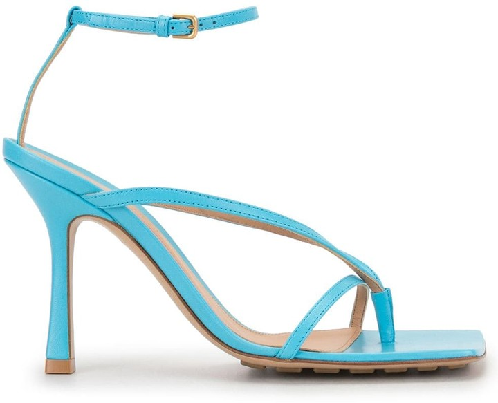Bottega Veneta Square-Toe High-Heel Sandals