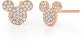 Disney Mickey Mouse Icon Stud Earrings by CRISLU - Rose Gold