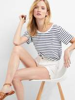 Gap Stripe pleat-back boatneck tee