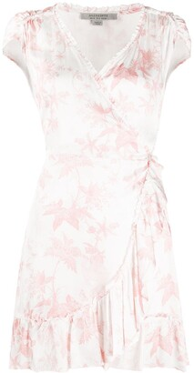 AllSaints Foliage Print Wrap Dress