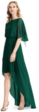 Jenny Packham Flutter-Sleeve High-Low A-Line Dress