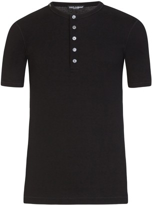 Dolce & Gabbana button placket T-shirt