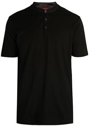 HUGO BOSS Daspen Henley CottonT-Shirt