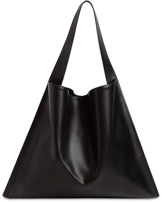 Jil Sander Border Leather Hobo Bag