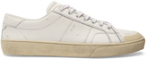 Saint Laurent Court Classic distressed leather trainers
