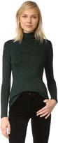 Diane von Furstenberg Tess Metallic Turtleneck Sweater