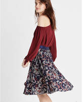 Express pleated midi skirt