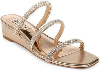 Badgley Mischka Zofia Strappy Wedge Slide Sandal