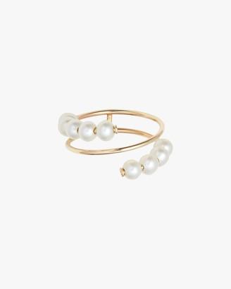 Poppy Finch Baby Pearl Spiral Ring