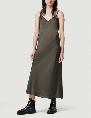 AllSaints Tierney crepe slip dress