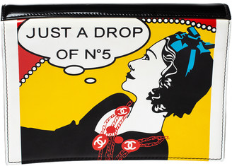 Chanel Black Patent Leather Just A Drop of No. 5 Clutch