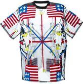 Kokon To Zai flag toweling oversized T-shirt