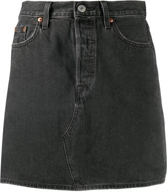 Levi's Deconstructed Denim Mini Skirt