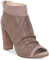 Vince Camuto Cosima Perforated Block-Heel Booties