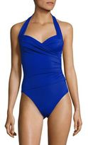 Norma Kamali One-Piece Bill Halter Swimsuit