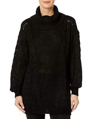Armani Exchange A|X Women's Long Loose Fitting Bulky Turtleneck Sweater