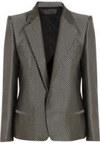 Haider Ackermann Silk-blend herringbone jacquard jacket