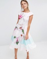 Ted Baker Bromlie Prom Dress in Pink Magnolia Print