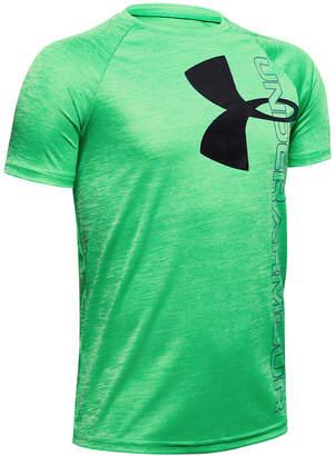 Under Armour Big Boys Tech Split Logo Hybrid-Print T-Shirt