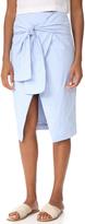 J.o.a. Wrap Style Pencil Skirt